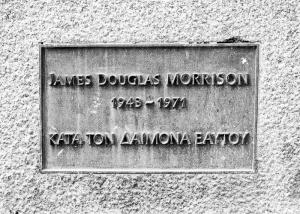 Jim Morrison's gravestone